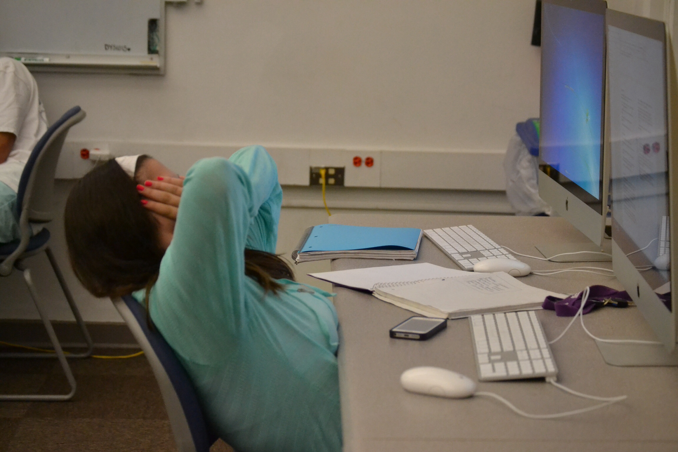 Kaitlyn Kaminski experiences the highs and lows of reporting. Photo courtesy Medill cherubs.