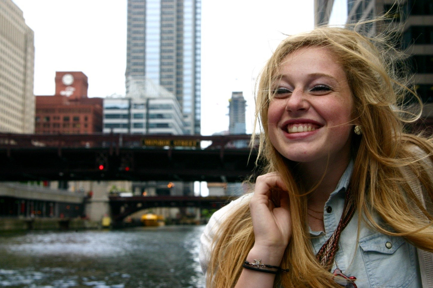 """""""It was really cold but I loved watching the city go by,"""" Hayley Robb of Kentucky said. """"I've always loved Chicago. It made me reminisce about home, but it also made me take in the opportunities that I had."""" <br> Hayley showed off her signature laugh."""
