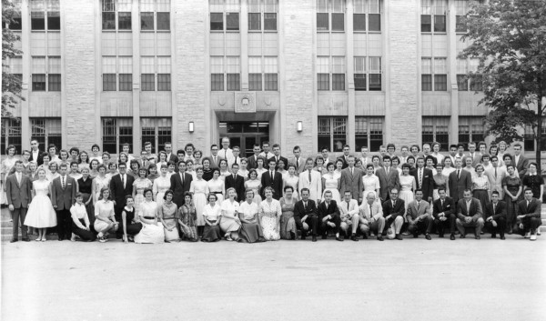 1958 cherub group photo. Photo from Deering Library Archives