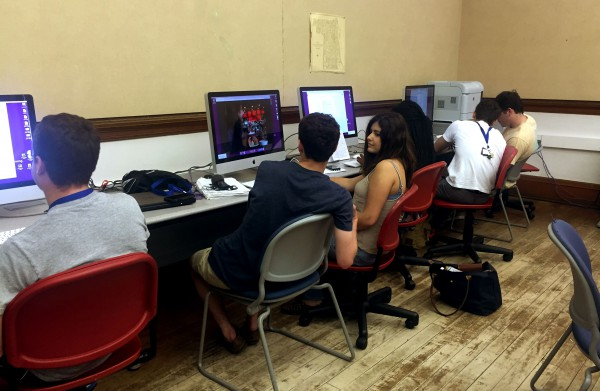 Cherubs are working to complete their assignments for the weekly clubs. Photo by Kelsey Henry.