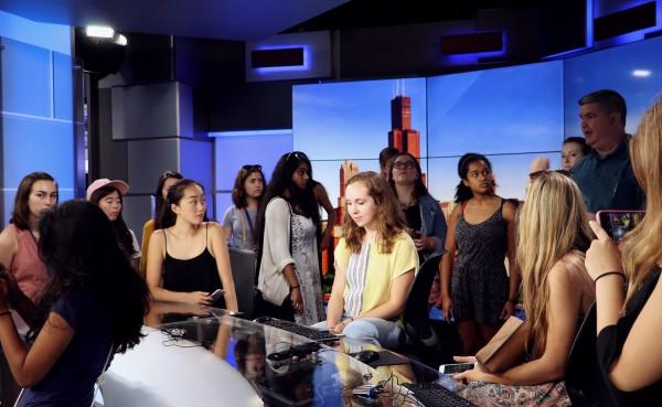 Cherubs at the ABC studio. Photo by Brian Meller.