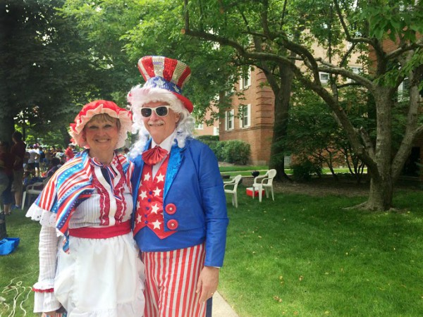 Edward and Pat Blumen at the Evanston Fourth of July Parade