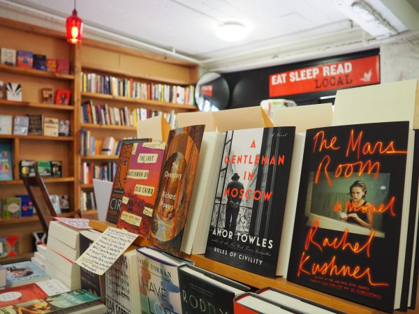 Books line the shelves of the store called Bookends and Beginnings